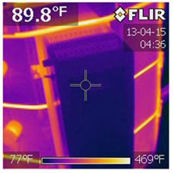 コントローラーボックスの温度測定