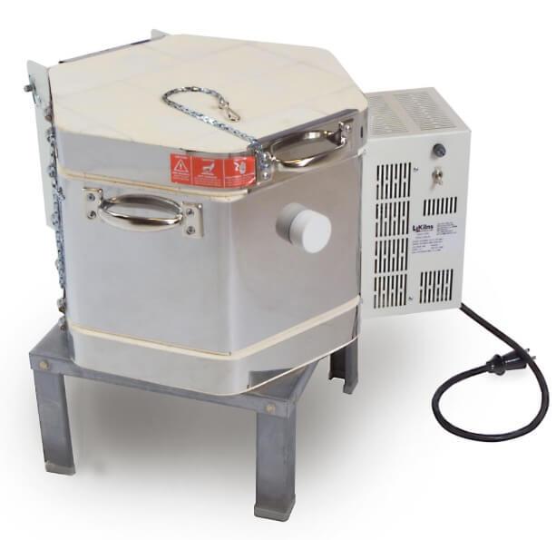 ドールテスト小型電気窯の蓋を閉じた状態(側面)