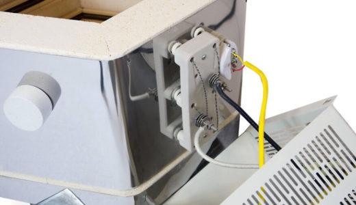 ドールテスト電気窯の電熱線固定ブロック