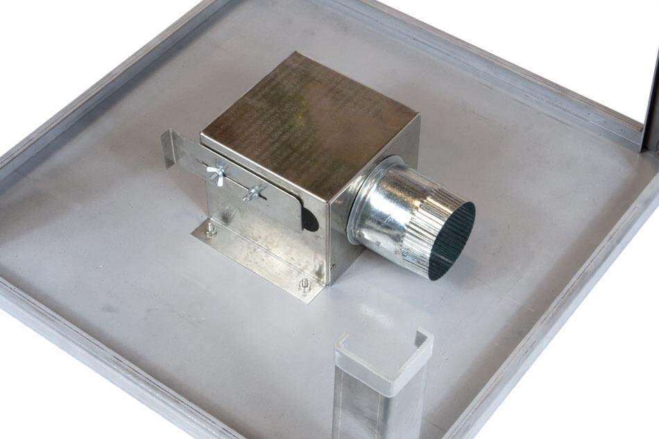 電気窯のベント用バイパスボックス