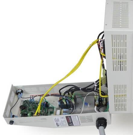 eFL電気窯のコントローボックスのオープン