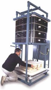 中型電気窯T3436-bell-lift