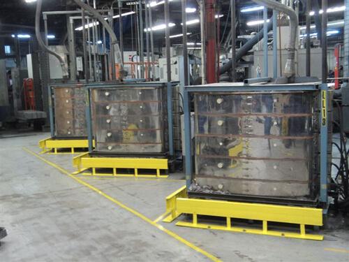 電気炉ジャンボベルリフトの設置例