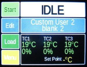 GENESIS温度制御機のトップ画面