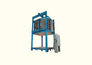 炉壁昇降式電気窯の大型