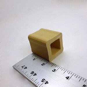 セラミック製中空四角柱の支柱-51mm