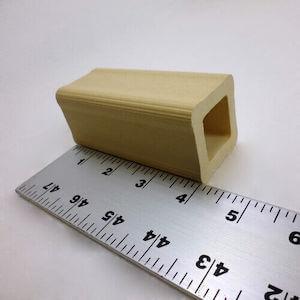 セラミック製中空四角柱の支柱-102mm