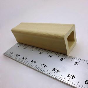 セラミック製中空四角柱の支柱-153mm
