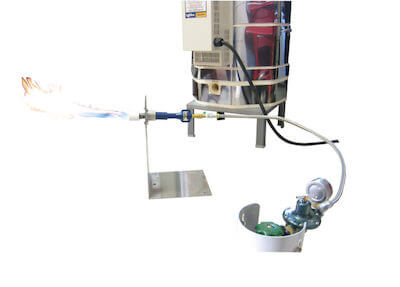 電気窯の還元焼成システム