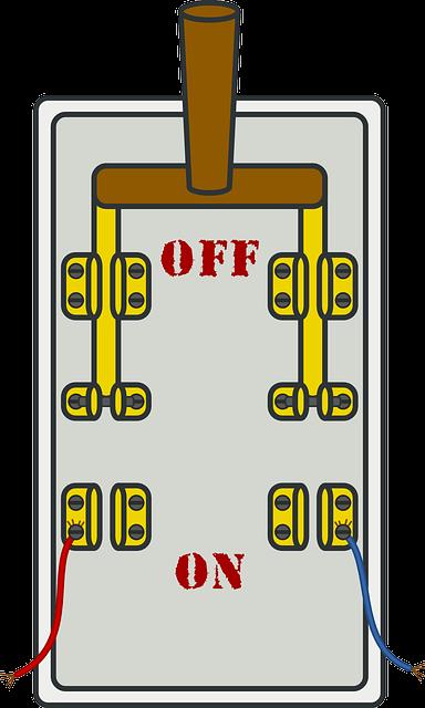 電気窯のブレーカーイメージ