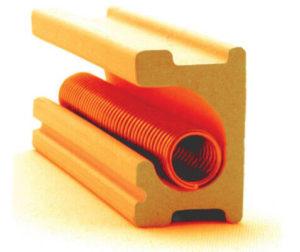 電気窯のセラミック製の電熱線溝