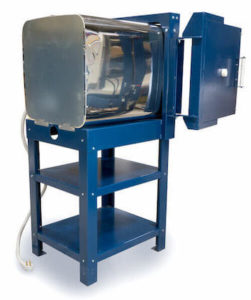 中型電気窯(横扉式)eFL1616の蓋オープンの斜め背面