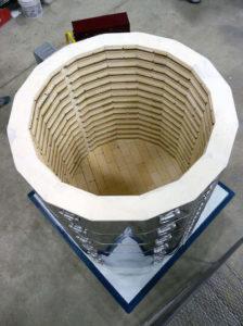 電気炉sp3845の炉内