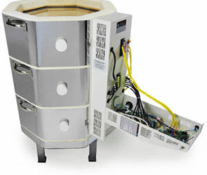 中型電気窯e18T-3-Rのコントローラーボックスオープン