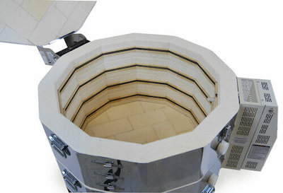 大型電気窯e28S-3-Rの炉内の様子