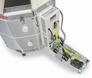 電気窯e23Sのコントローローラーボックスをオープンした状態