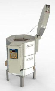 小型電気窯e14s-3-rの蓋を開けた状態