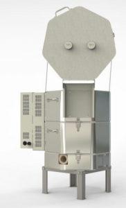 エルエルキルン小型電気窯e14S-3-Rの背面