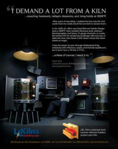 JH結晶釉電気窯設置-Hull氏の工房