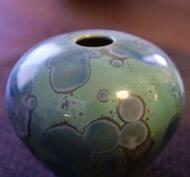 亜鉛結晶の壺 - 陶芸家清水様